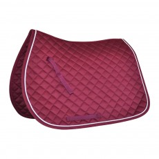 Mark Todd Piped Saddlepad (Burgundy & White)