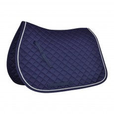 Mark Todd Piped Saddlepad (Navy & White)