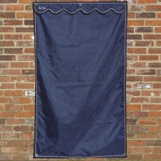 Mark Todd Large Stable Door Drape (Navy & Silver)