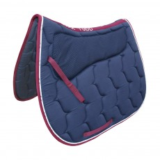 Mark Todd Grip Saddlepad (Navy & Burgundy)