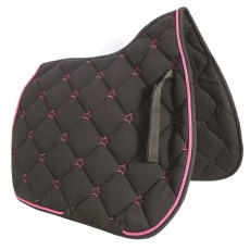 JHL Star Saddlepad (Black & Pink)