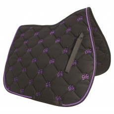 JHL Butterfly Saddlepad (Black & Purple)
