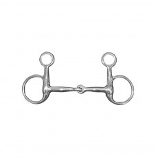 JHL Pro Steel Hanging Mouth Snaffle Filet Baucher