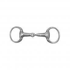 JHL Pro Steel Lightweight Hollow Mouth Eggbutt Snaffle