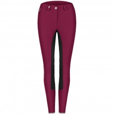 Cavallo Ladies Cosima Grip Art Breeches (Dark Fuchsia/Black)