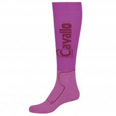 Cavallo Unisex Functional Long Socks (Fuchsia/Dark Fuchsia)