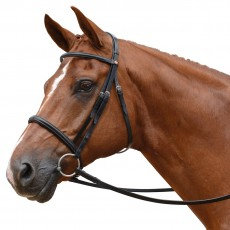 Albion KB Competition Snaffle Bridle with Cavesson (20mm Thickness)