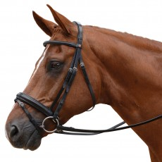 Albion KB Competition Snaffle Bridle with Crank Flash (30mm Thickness)