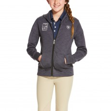 Ariat Girl's FEI World Cup Milton Hoodie (Dark Grey)