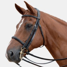 Albion KB Competition Weymouth Bridle with Cavesson (30mm Thickness) + 1/2 Nubuck Curb Rein