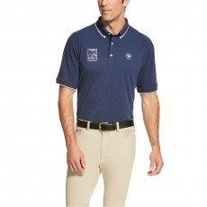 Ariat Men's FEI World Cup Polo (Navy)
