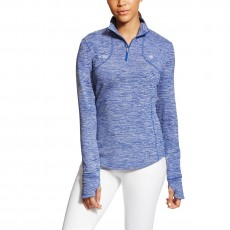 Ariat Women's FEI Gridwork 1/2 Zip (Mazarine Blue)