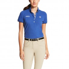Ariat Women's FEI Polo (Mazarine Blue Heather)