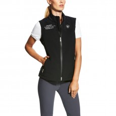 Ariat Women's FEI World Cup Bodymap Softshell Vest (Black)