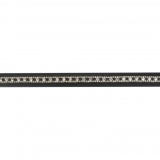 JHL Round Clear Diamante Browband (Black)