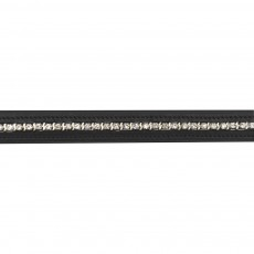 JHL Square & Line Diamante Browband (Black)