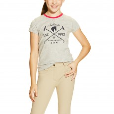 Ariat Girl's Authentic Tee (Heather Grey)