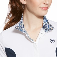 Ariat Women's Aptos Liberty Show Top (White/Navy)