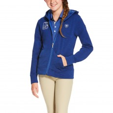 Ariat Girl's FEI World Cup Milton Hoodie (Mazarine Blue)
