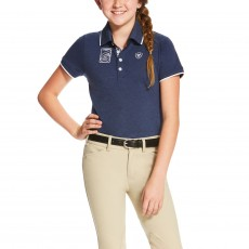 Ariat Kid's FEI Polo (Navy)