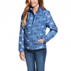 Ariat Girl's Avery Jacket (Blue Saga Trot Print)