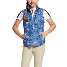 Ariat (Sample) Girl's Emma Reversible Vest (Blue Saga Trot)