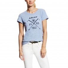 Ariat Women's Logo Tee (Chambray Heather)