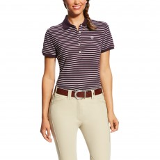 Ariat Women's Prix Polo (Plum Perfect Stripe)