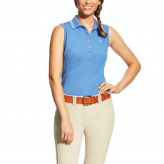 Ariat Women's Prix Sleeveless Polo (Blue Saga)