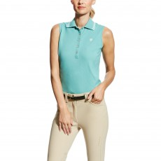 Ariat Women's Prix Sleeveless Polo (Cold Plunge)