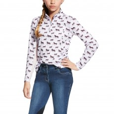 Ariat Girl's Sunstopper Top (Lavender Mist)