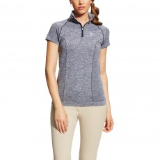 Ariat Women's Odyssey Seamless Quarter Zip (Navy Heather)