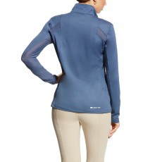 Ariat Women's Sunstopper Quarter Zip Top (Blue Flint)