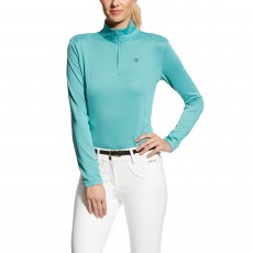 Ariat (Sample) Women's Sunstopper Quarter Zip Top (Cold Plunge)