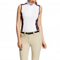 Ariat Women's Aptos Colourblock Sleeveless (White/Plum)
