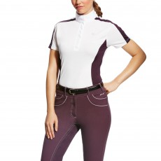 Ariat Women's Aptos Colourblock Shirt (White/Plum Perfect)