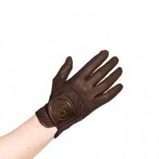 Caldene Competition Riding Gloves (Brown)