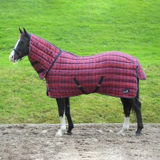 Masta Quiltmasta 350g Fixed Neck Stable Rug (Red/Navy Check)