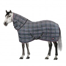 Masta Quiltmasta 350g Fixed Neck Stable Rug (Grey Check)