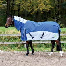 Masta Tex Turnout Rug Fieldmasta 350g Fixed Neck (Royal)
