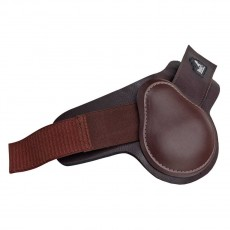 Masta Leather Look Neoprene Fetlock Boots (Brown)