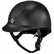 Charles Owen eLuminAyr Leather Look Riding Hat (Black Sparkles)