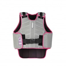 Harry Hall Childs Zeus Body Protector (Grey/Pink)