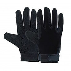 Harry Hall Tex Cotton Pimple Gloves Grip (Black)