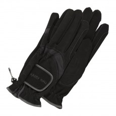 Harry Hall Domy Suede Gloves (Black)