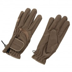 Harry Hall Domy Suede Gloves (Brown)