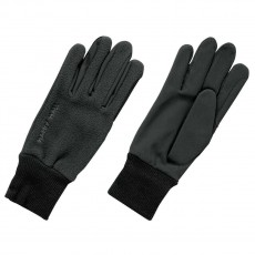 Harry Hall Fleece/Domy Suede Gloves (Black)