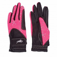 Harry Hall Junior Roxby Reflective Gloves (Pink)