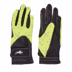 Harry Hall Junior Roxby Reflective Gloves (Yellow)