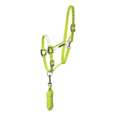 Harry Hall Hi Viz Headcollar and Leadrope (Yellow)